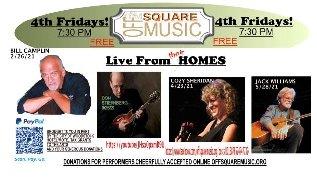 4th Friday Concerts At Home - Livestreams begin 7:30 pm/CST