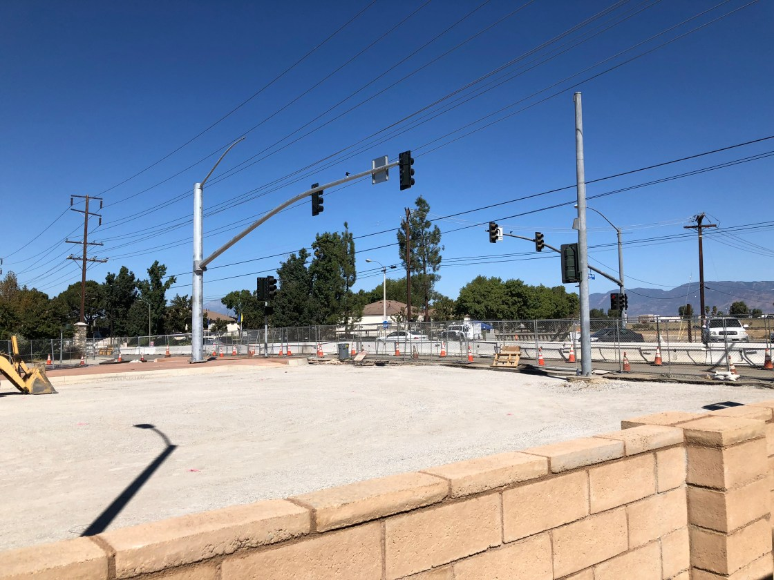 California Street and Redlands Boulevard construction