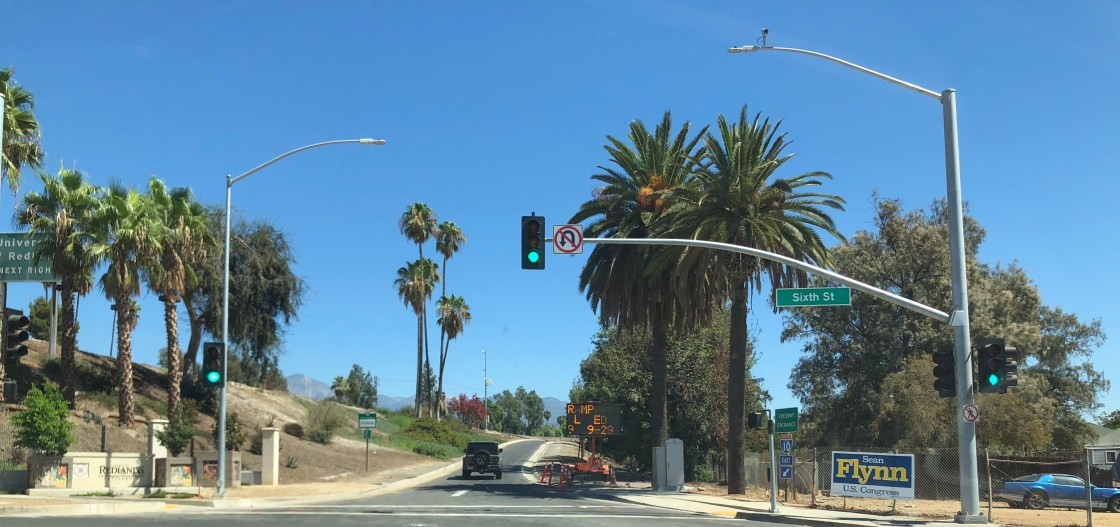 Interstate 10 Sixth Street onramp in Redlands