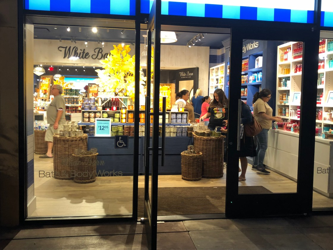 Bath & Body Works during its grand opening Friday