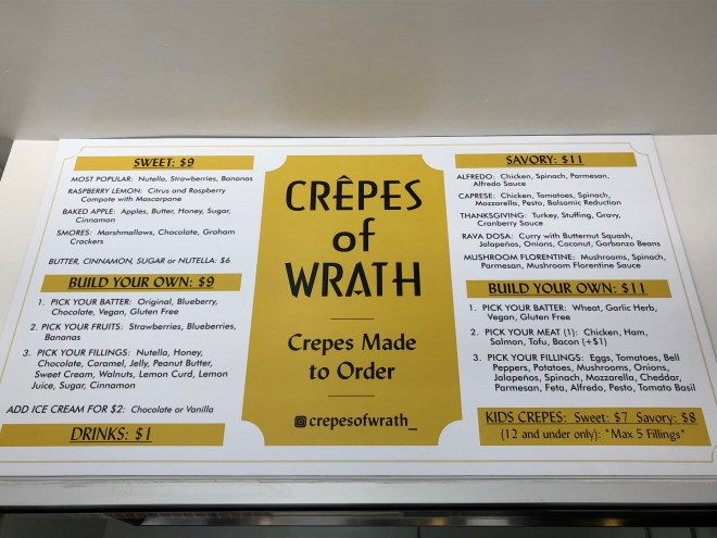 Crepes of Wrath menu