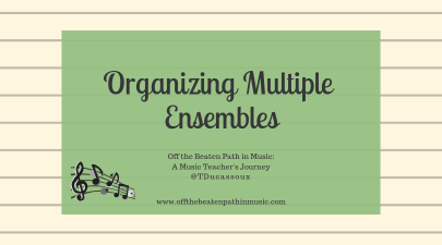 Organizing Multiple Ensembles
