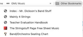 Other Bookmarks folder