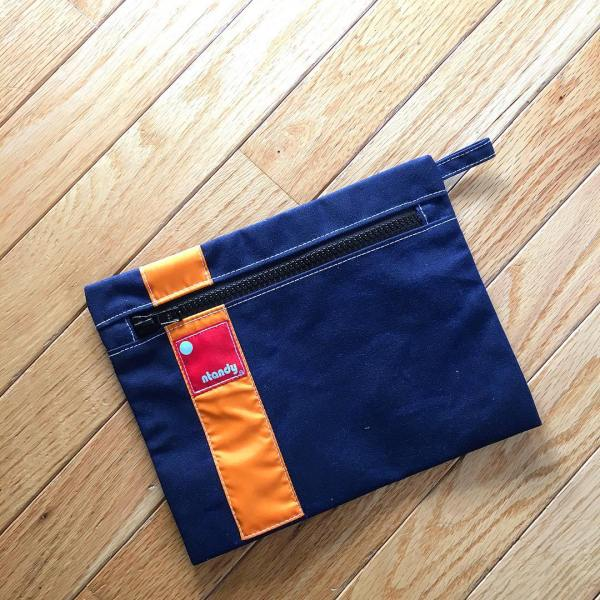 Great new zippered pouch from @ntandy. Keep all your small essentials handy in surfer cool style. #manbag #accessories #menstyle #bag