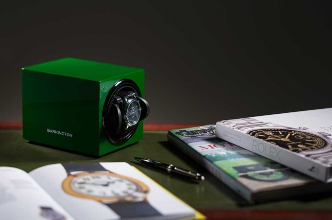 Barrington Racing Green Watch Winder Editorial Image