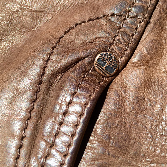 Leather Jacket Detail Logo Tack