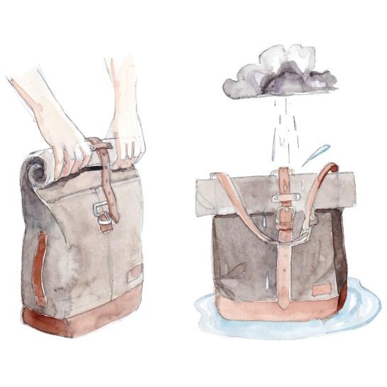 JPLC RollTote Illustration by Chris Sharp - Rain