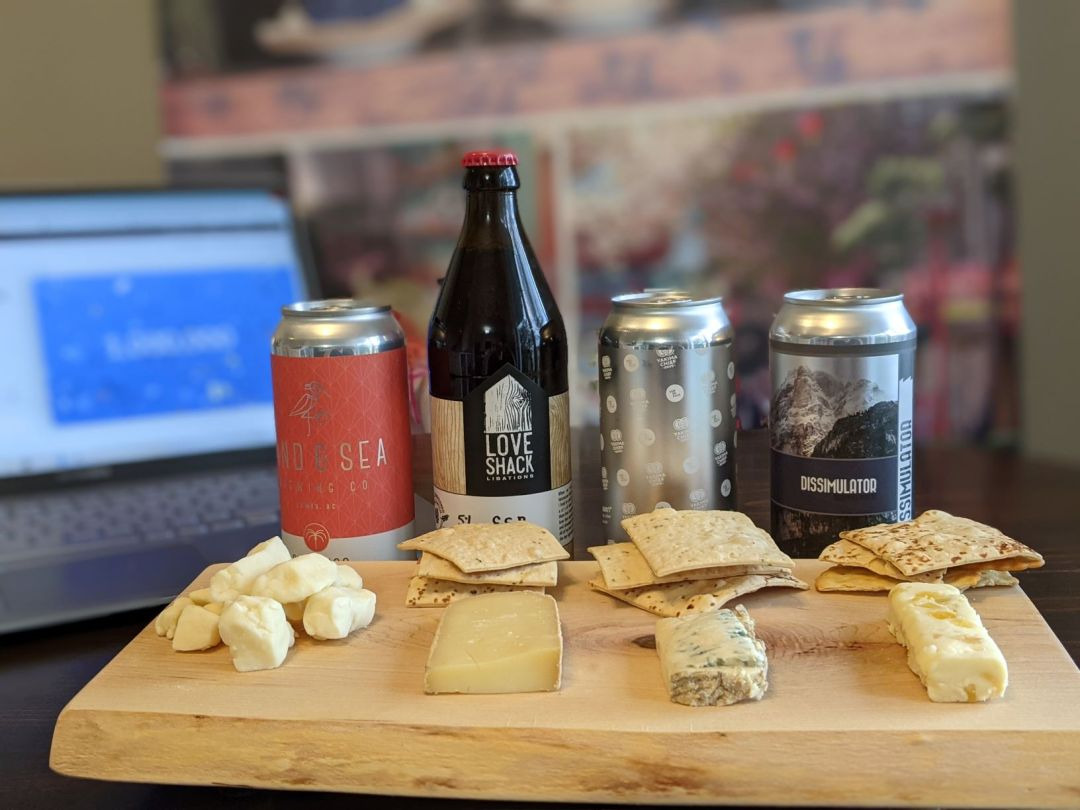 beer and cheese online tasting