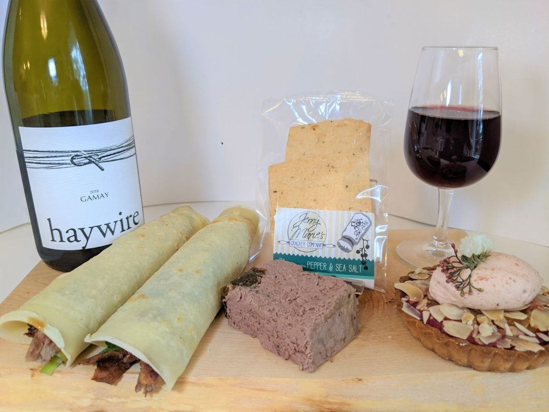 Haywire wine with food pairing