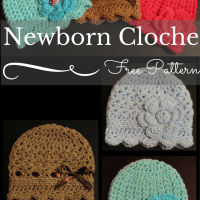 How To Create a Super Cute and Easy Crocheted Newborn Cloche Hat