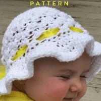 How to Create Super Cute Crochet Baby Sunhat
