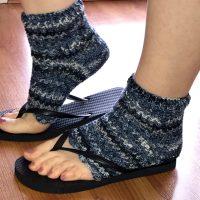 How You Can Easily Make Flip Flop Pedi Socks