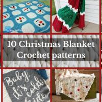 10 Christmas Blanket Crochet Patterns