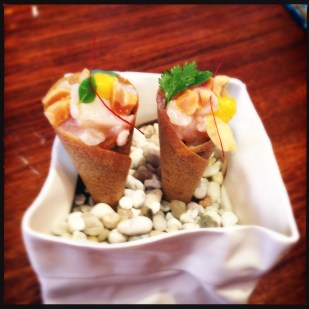 """Snapper ceviche """"trumpets"""""""
