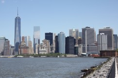 A view of the city skyline
