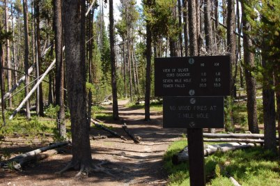 Find this sign near the trailhead.
