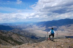Look north for a stunning view of the Absaroka-Beartooth Wilderness