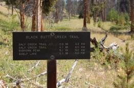 Black Butte Trail Signage 2