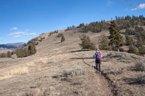 Looking towards the beginnings of Specimen Ridge