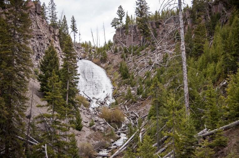 Wraith Falls in Yellowstone