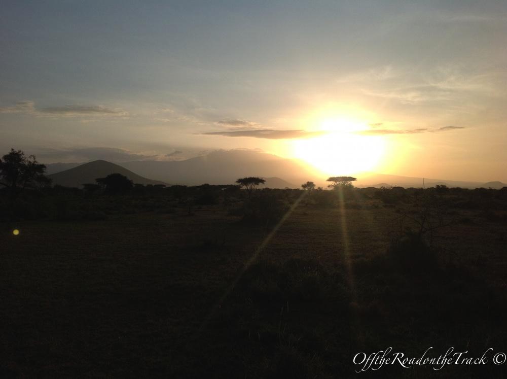 Masai'de akşam gün batımı…