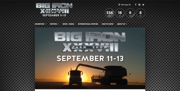Big Iron Farm Show | Website Design | Off The Wall Advertising