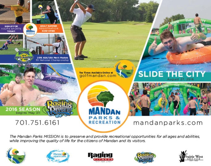 Mandan Parks & Recreation | Indoor Billboards | Off The Wall Advertising