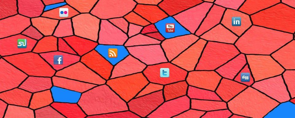 social media mosaic