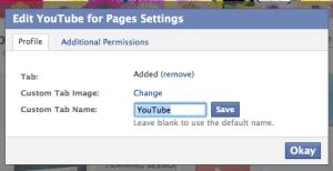 Edit Page Tab Settings in Facebook