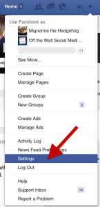 Facebook - How to Get to Account Settings