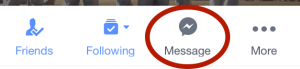 facebook Message icon - mobile