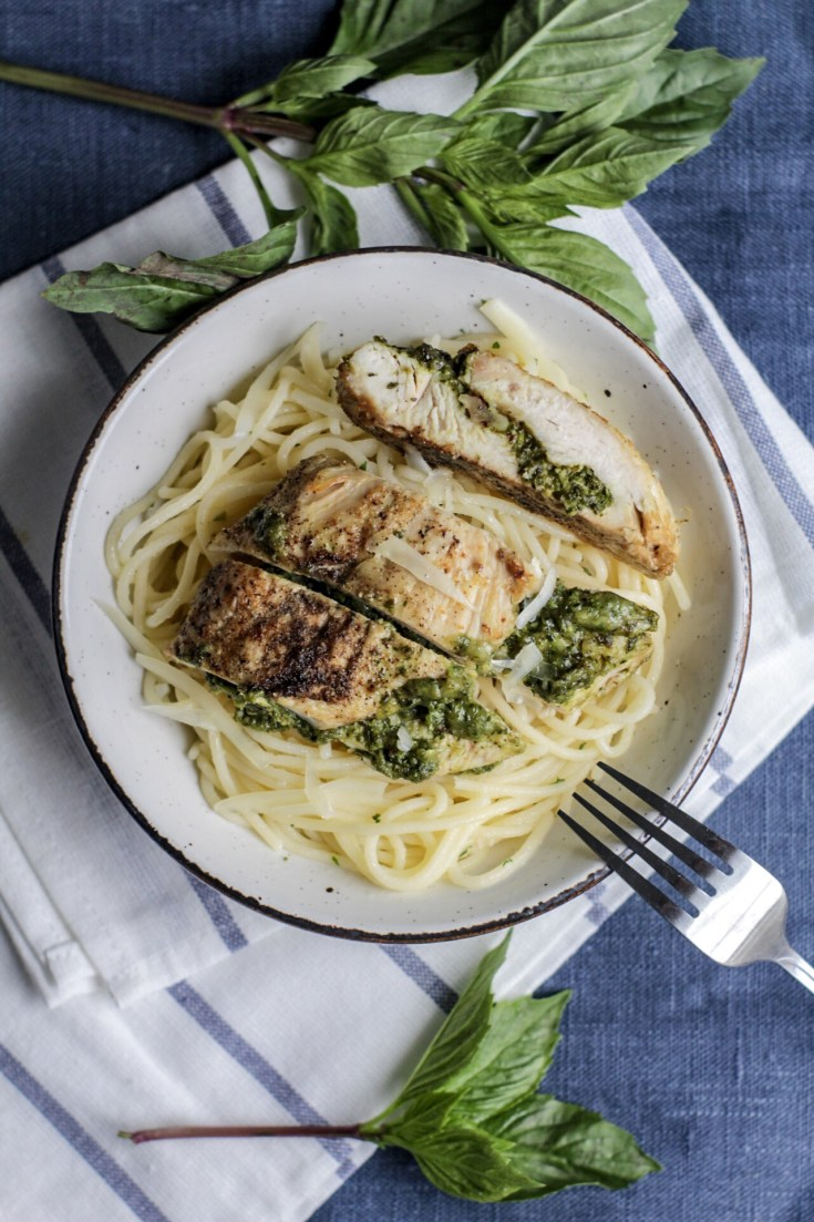 Gluten Free Pesto Stuffed Chicken