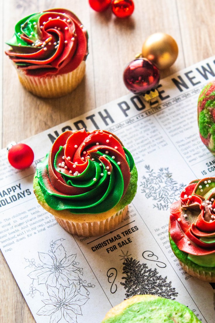 Holiday Marble Cupcakes