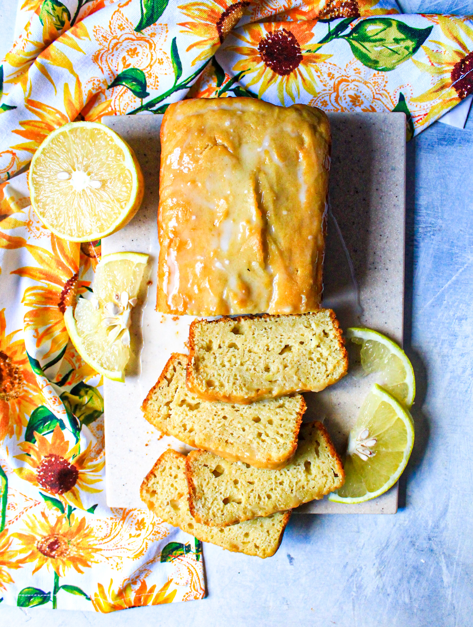 top view Gluten free Grapefruit Pound Cake