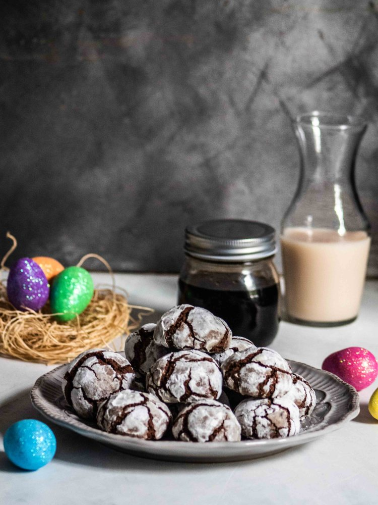 Gluten free Crinkle Cookies with Coffee