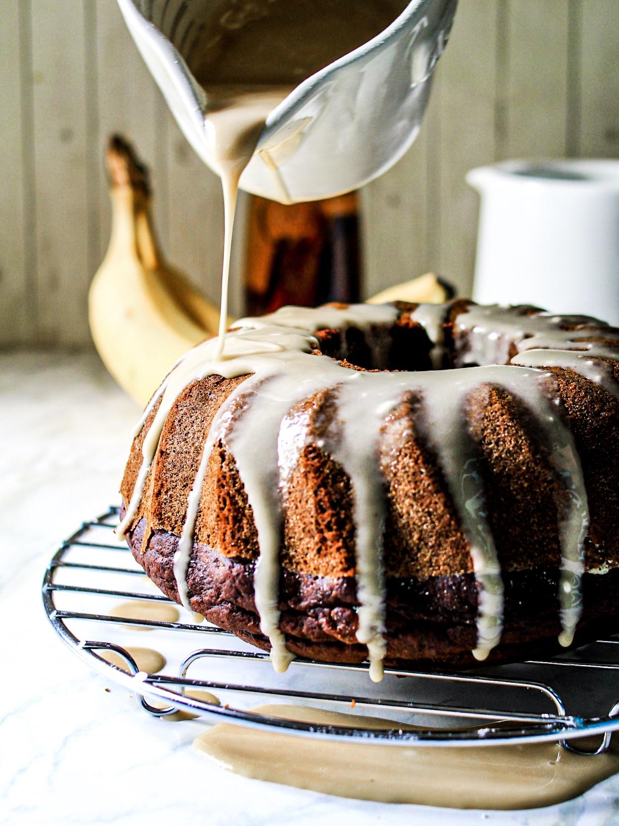 Gluten Free Chocolate Banana Bundt Cake