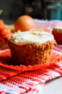 Small Batch Gluten free Dairy Free Carrot Cucpakes