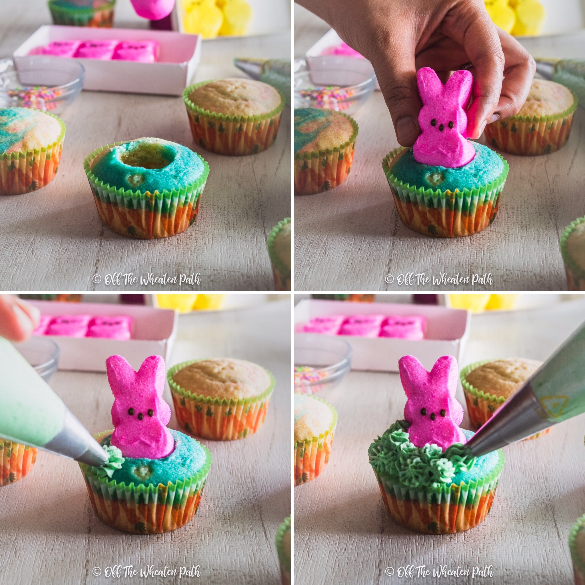 Step by step peeps decoration