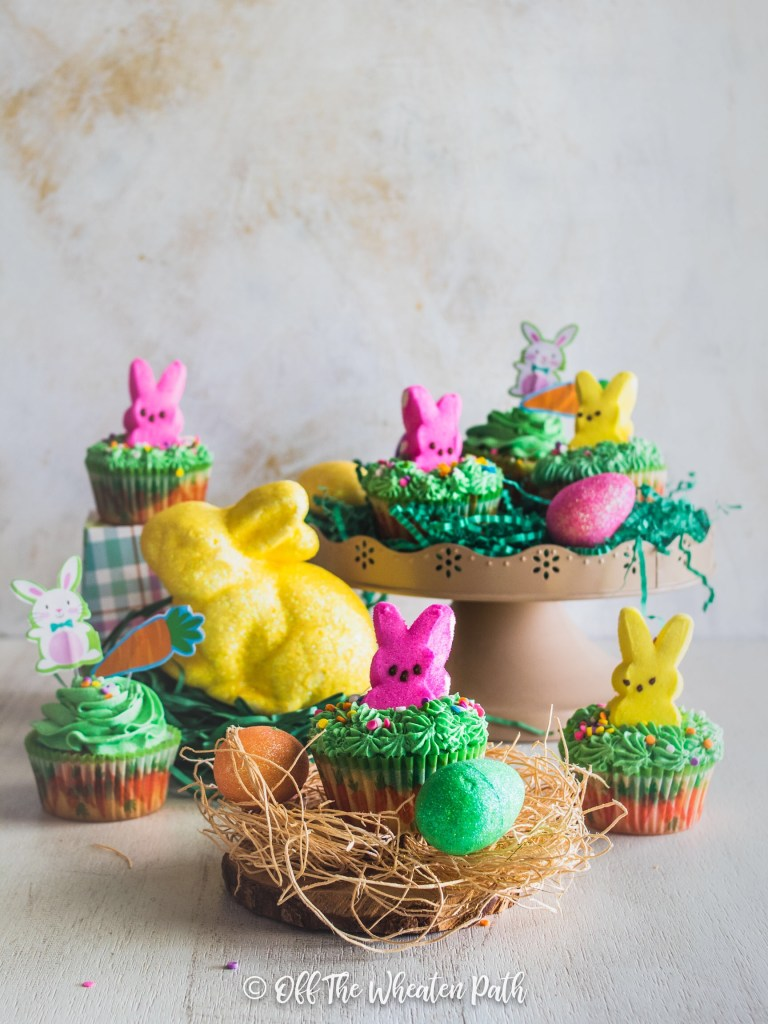 Cupcakes decorated with peeps