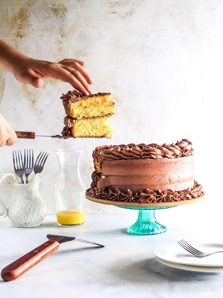 Easy Gluten Free Orange and Chocolate Layer Cake