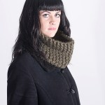 Handmade woolly snoods - Olive snood. Click to customise.