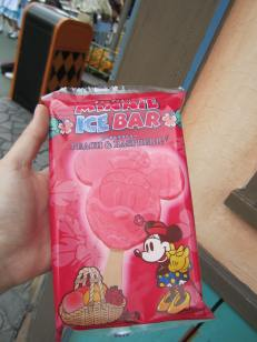 Popsicle in the shape of Minnie.