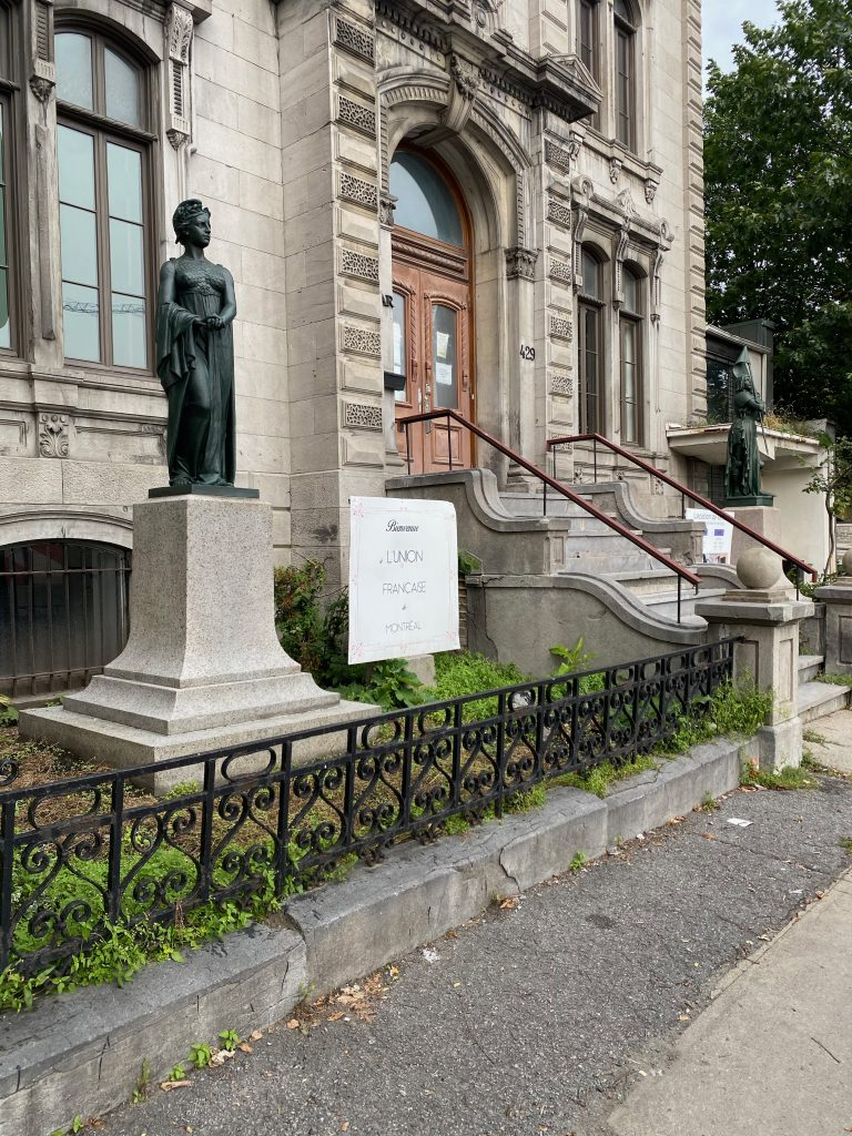 Entrée bâtiment Union Française de Montreal