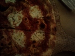 My pizza, a traditional pizza Margherita.