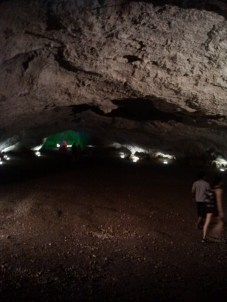 They actually hold mass in this cave.