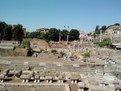 Ruins near the Colosseum.