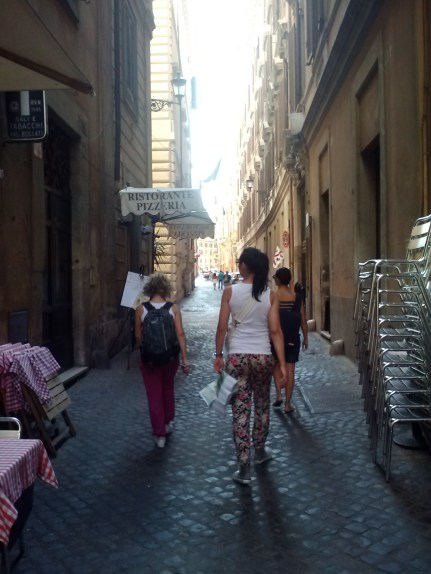 Navigating through the old city.