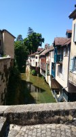 Arbois : Houses by the river