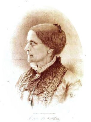Susan B. Anthony. Photograph courtesy of Wikipedia.