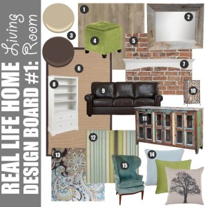 Real Life Home Design Board #1: Living Room
